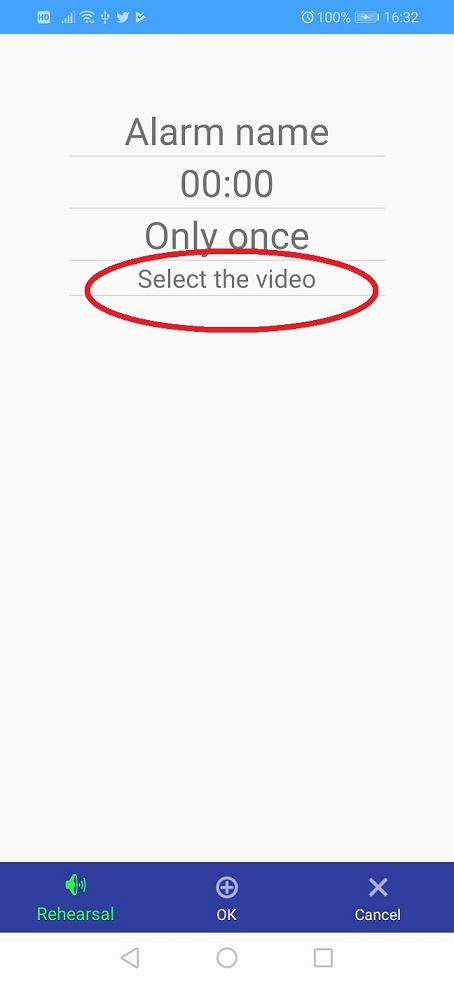 Select the video